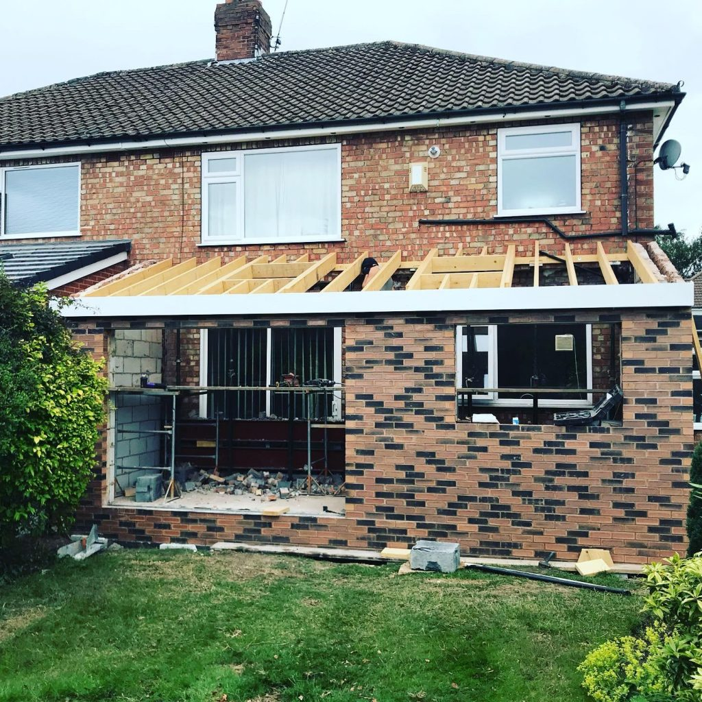Extension Roof construction, Liverpool